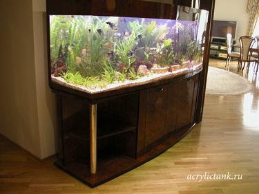 Панорамный аквариум 700 литров